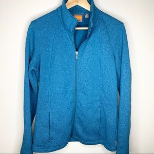 MERRELL McKenzie Teal Full Zip Knit Jacket M